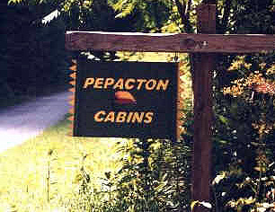 PEPACTON CABINS SIGN